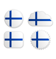 Finland flag labels vector image