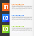 Modern Infographics template vector image