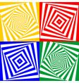 set of geometric elements vector image vector image