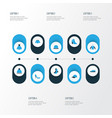 dress colorful icons set collection of panama vector image