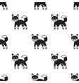 Fox icon in black style isolated on white vector image