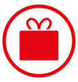 gift rounded icon vector image