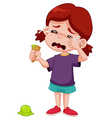 Girl crying vector image