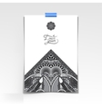 grey decorative sheet of paper with oriental vector image