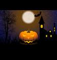 halloween greeting card with jack-o-lantern vector image