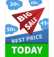 Large Discounts big sale airplane in the vector image