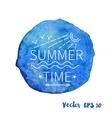 outline summer stamp emblem vector image
