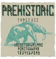 prehistoric runes typeface poster vector image