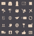 Post color icons on grey background vector image
