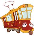 Fantastic tram vector image vector image