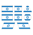 buttons with flag of Israel vector image