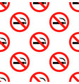 no smoking sign pattern repeat seamless in orange vector image