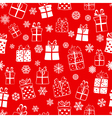 Seamless pattern of gift boxes vector image vector image