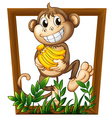 Monkey and banana vector image vector image