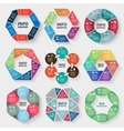 set of circle abstract infographics vector image