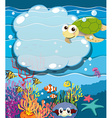 Underwater scene with sea animals vector image