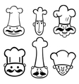 set of different chefs vector image