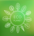 Ecology concept eco planet vector image