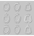 Set of laurel wreaths shields vector image