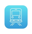 Back view of train line icon vector image