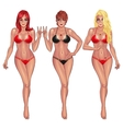 Beautiful young women in bikini vector image
