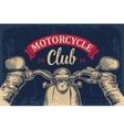 Biker driving motorcycle rides Road Trip View vector image