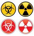 biohazard and radioactive warning signs vector image