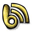 cartoon image of blog icon blogging symbol vector image