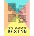 Hand Drawn Patterns Card vector image