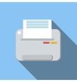 Printer flat icon vector image