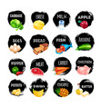 set of food icons isolated on white background vector image