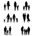 Silhouettes of families vector image