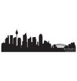 sydney australia skyline detailed silhouette vector image