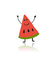 watermelon cute character for your design vector image