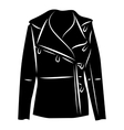 Winter jacket icon simple style vector image