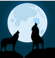 Wolves vector image