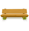 wood bench vector image