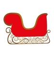 embellished sleigh icon image vector image