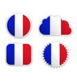 France flag labels vector image