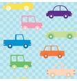 Colorful cars seamless pattern vector image