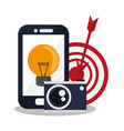 smartphone device icon vector image