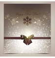 Elegant Christmas background with brown bow vector image