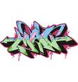 Graffito - man vector image