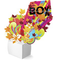 Exploding Box Design vector image