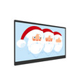 christmas santa claus wearing a hat with a beard vector image