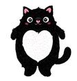 Cute fat cat character vector image