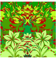 flowers on green background vector image