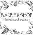 hand-drawn for barbershop logotype vector image