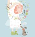 pregnancy concept card in cartoon style vector image