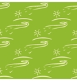 seamless pattern with sun fnd road on green vector image